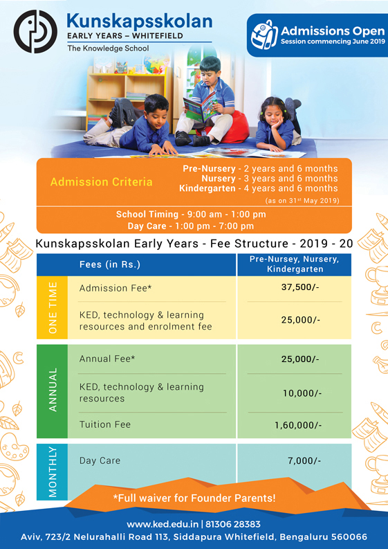 Kunskapsskolan Early Years Fees